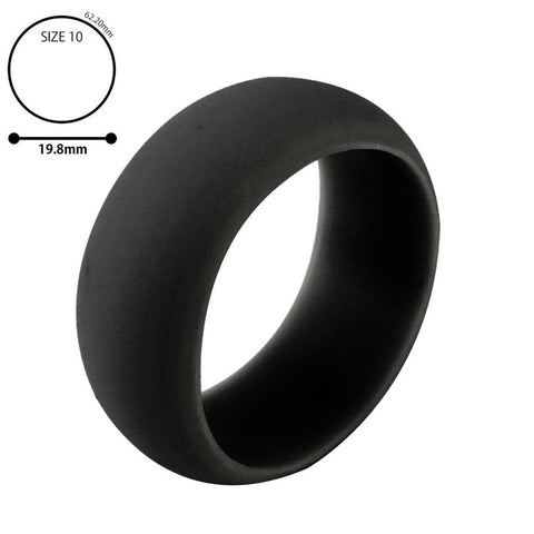 1PC Silicone Wedding Band Engagement Ring Hypoallergenic Mens Womens Jewelry - Pricedok
