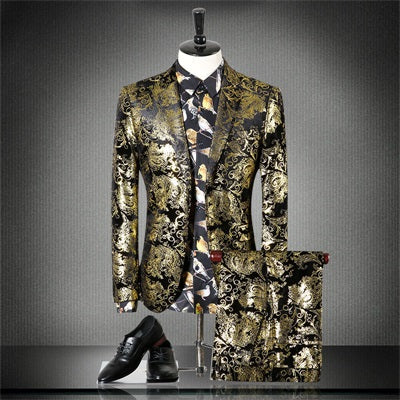 Terno Masculino Floral Gold suit - Pricedok