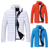 Boys Men Warm Stand Collar Slim Winter Zip Coat Outwear Jacket - Pricedok