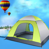 3-4 Person Automatic Folding Tents Family Tents Beach Tent Camping Double Speed to Open Rejection - Pricedok