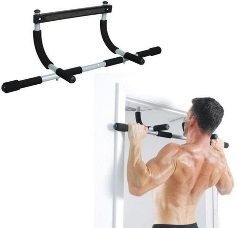 Heavy Duty Doorway Trainer Multi-Grip Chin Pull Up Bar for exercising at home - Pricedok