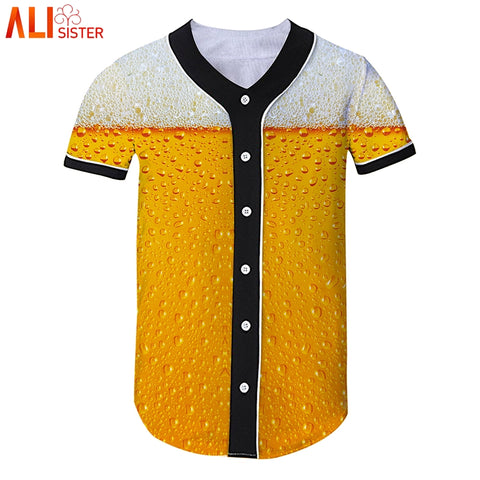 Baseball Style Short Sleeve Shirt - Pricedok