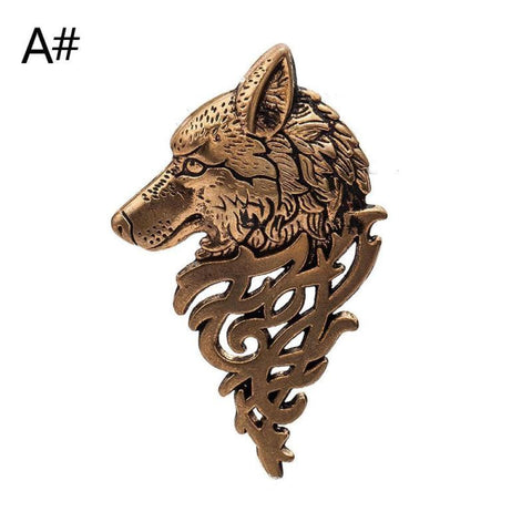 Vintage Gold Silver Brooches for Women Men Lapel Pin Wolf Collar Jewelry Fashion Brooch Pins - Pricedok
