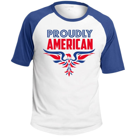"""Proudly American-Stand Up"" Cotton Sport-Tek  P+ Jersey (FRONT & BACK) - Pricedok"