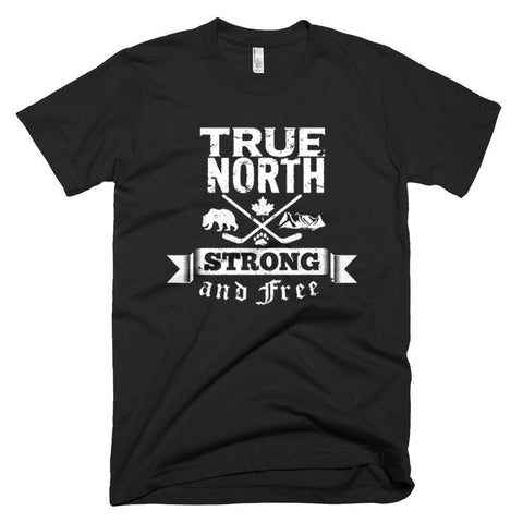 """TRUE, NORTH"" T-Shirt  white print - Pricedok"