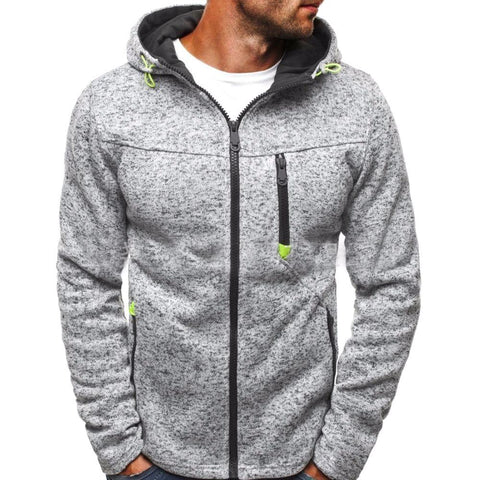Winter Men's 100% Cotton Zip-Up Hoodie - Pricedok