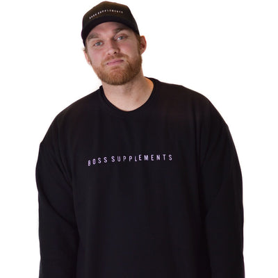 BOSS Supplements Embroidered Crewneck