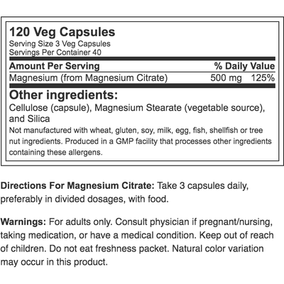 NOW Magnesium Citrate 200mg 100 tab