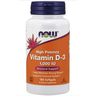 NOW Vitamin D-3 1000IU - 180 Softgels