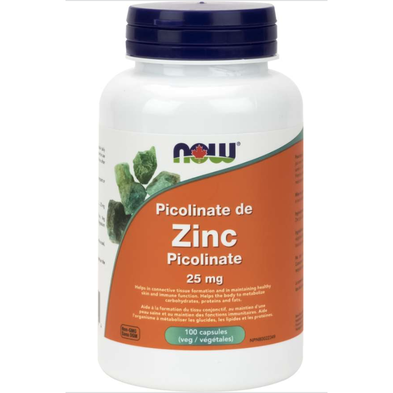 NOW Zinc Picolinate 25mg 100cap