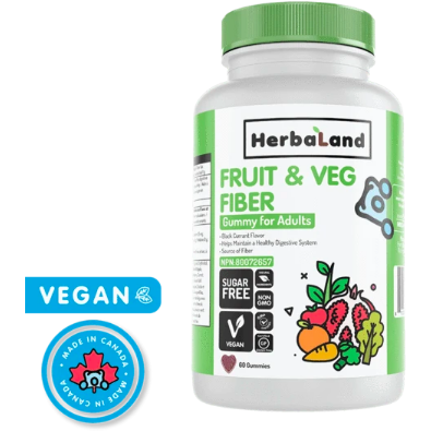 Herbaland Adult Fruit & Veg Fiber Gummies