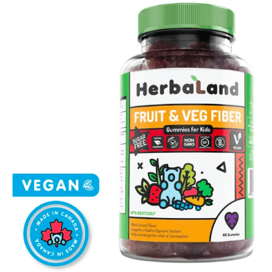 Herbaland Kids Fruit & Veg Fiber Gummies