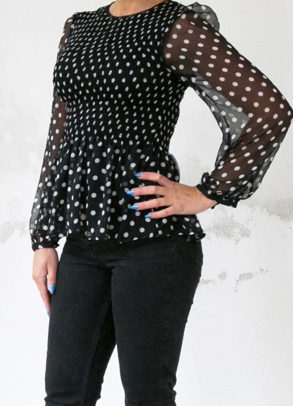 Sofie Stretch Black dots