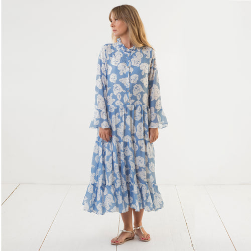 Diana Dress Blue rose