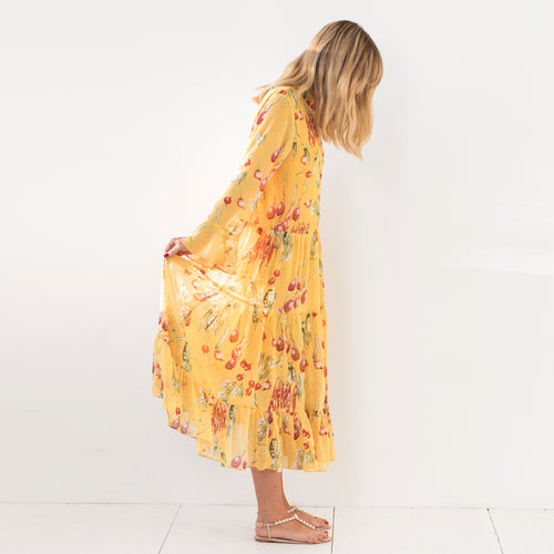 Diana Dress Yellow Veggie