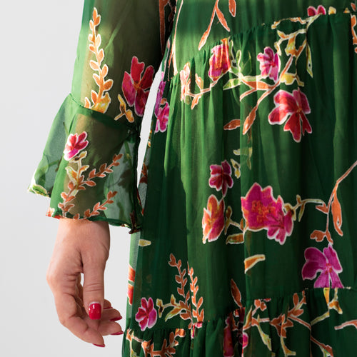 Diana Dress Green flower
