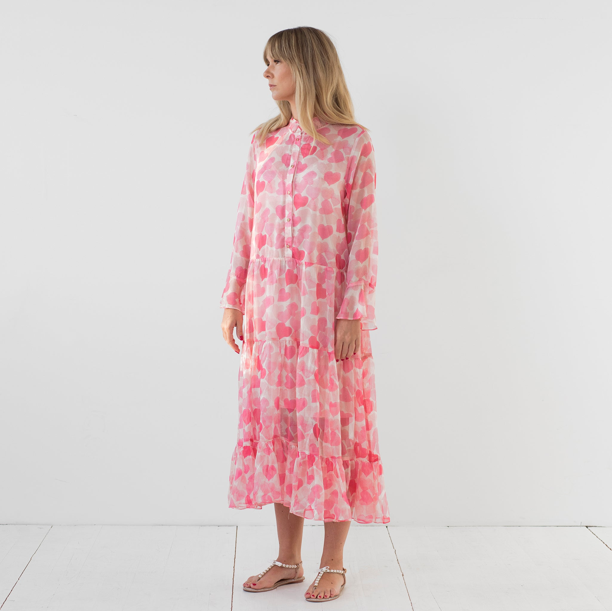 Diana Dress Heart Pink