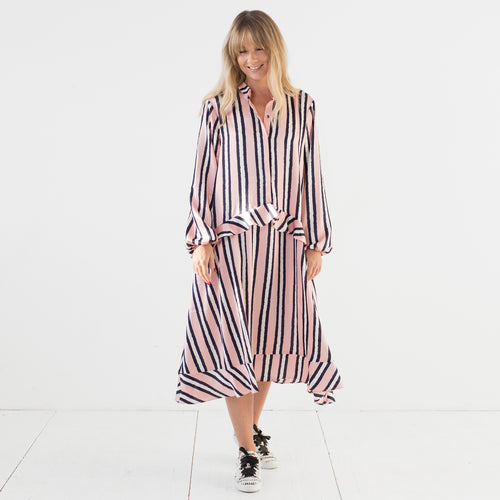 Florense V Dress Stripe