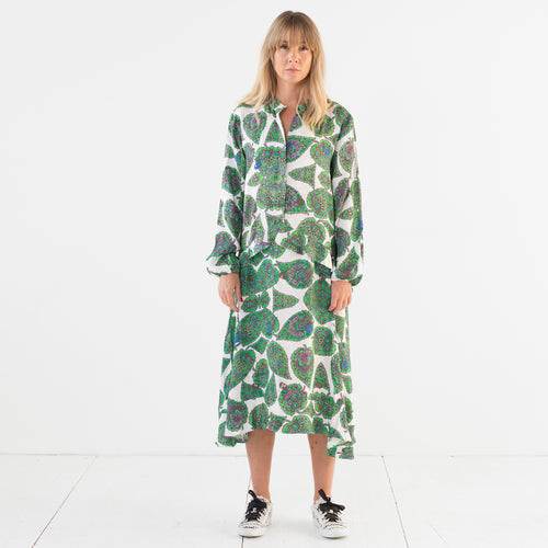 Florense V Dress Leaves