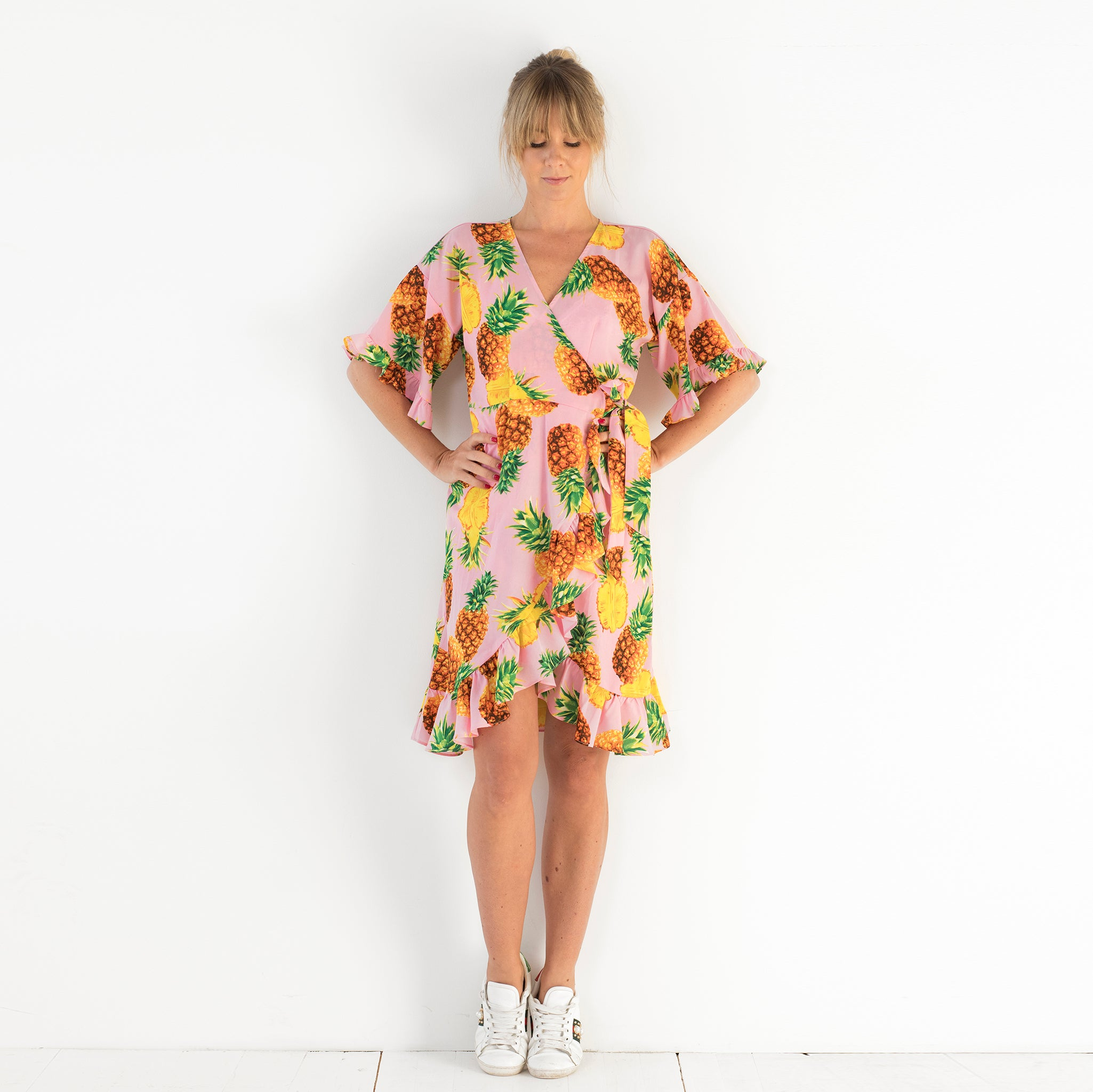 Lotta Wrap Dress Pineapple