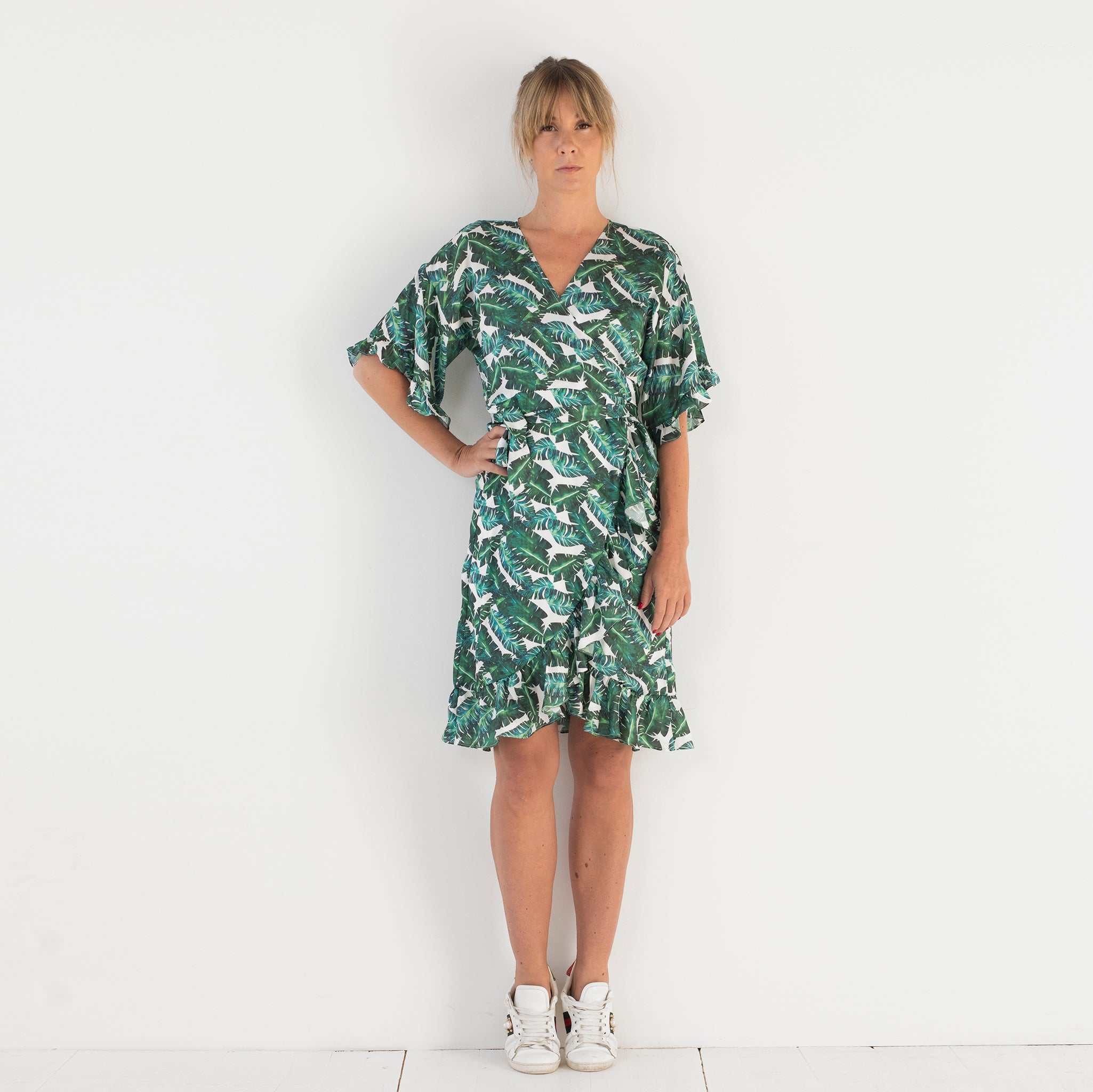 Lotta Wrap Dress Palm