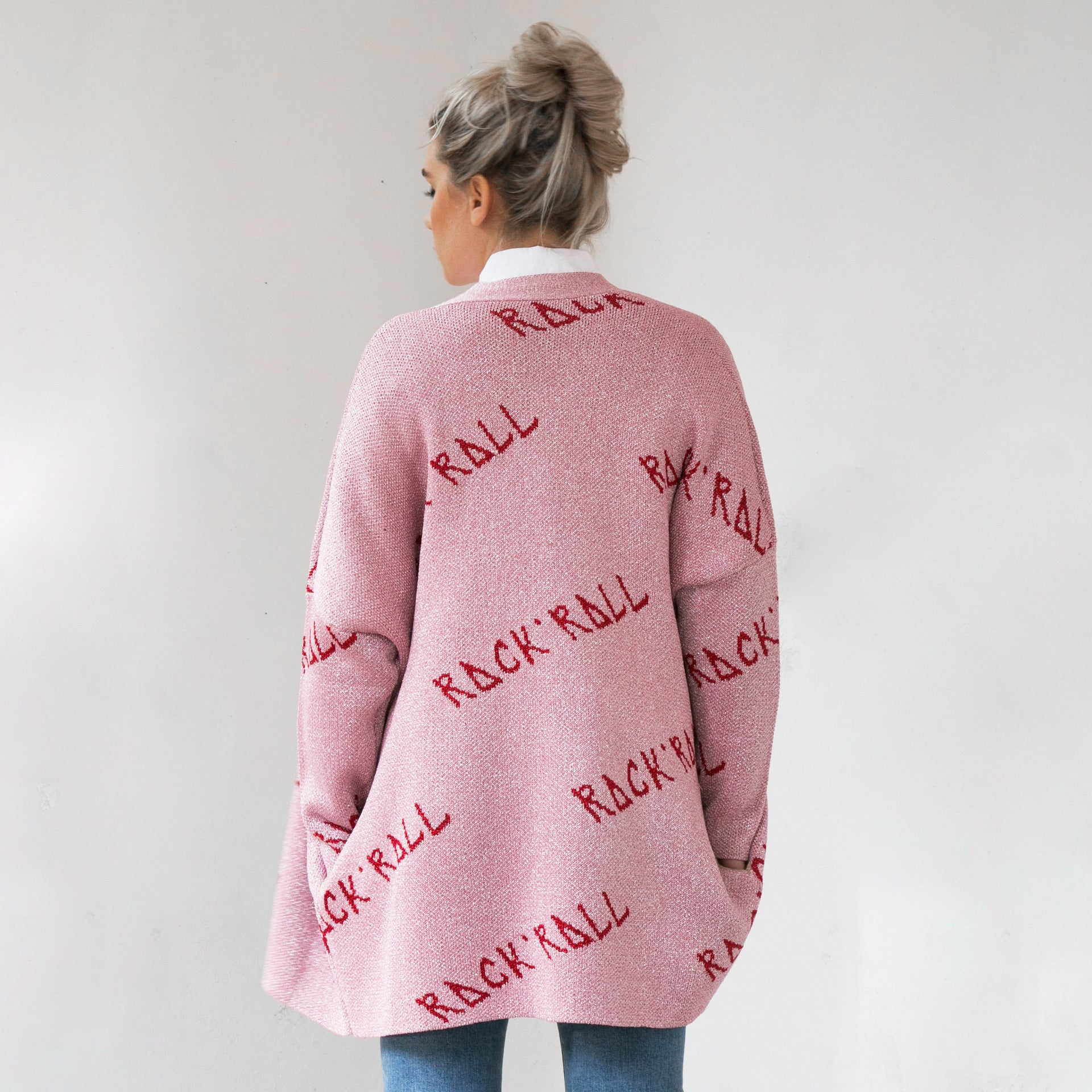 Rock Roll  Cardigan Pink