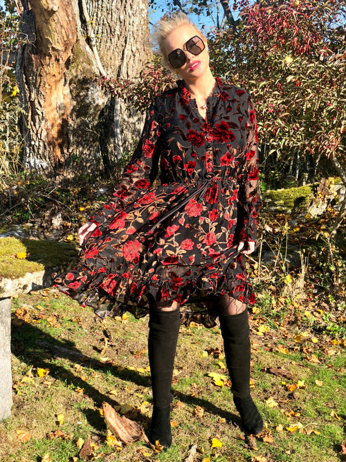 Stine dress Red flower