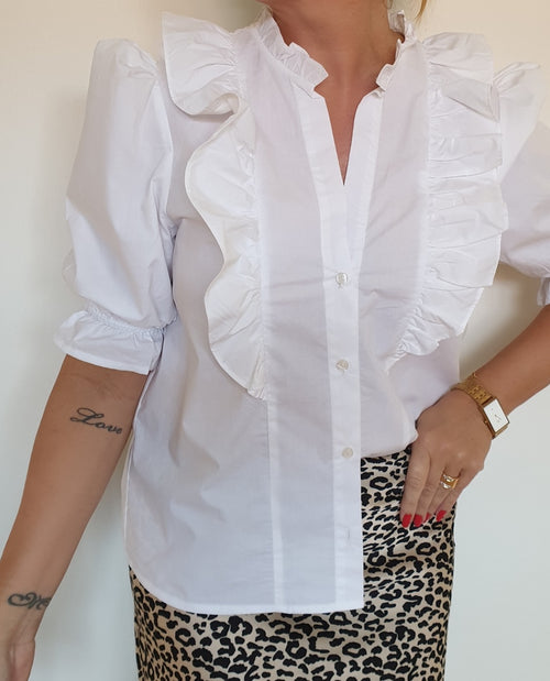 Ruffle Shirt white