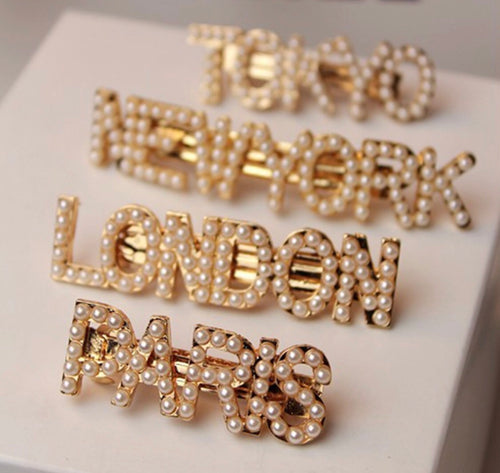Hair clips City names