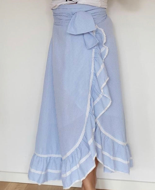 Juni skirt SKY BLUE STRIPE