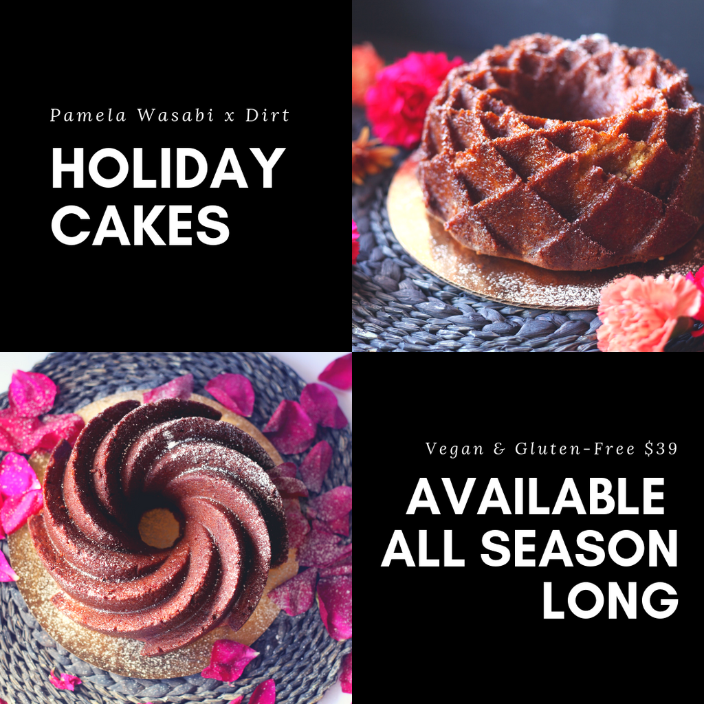 Holiday Cakes x Dirt Restaurant