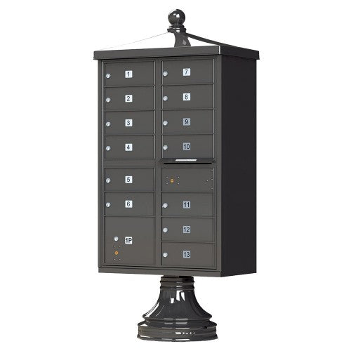 16 Tenant Cluster Box - 2 Parcel Lockers - Traditional