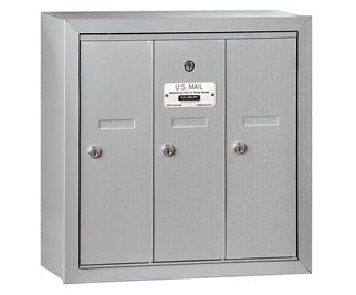 3 Unit - Vertical 4B+ Mailbox - Surface Mounted