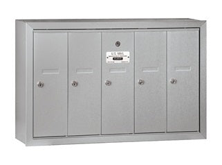 5 Unit - Vertical 4B+ Mailbox - Surface Mounted