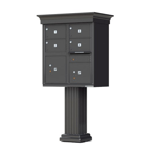 4 Tenant Cluster Box - 2 Parcel Locker - Decorative