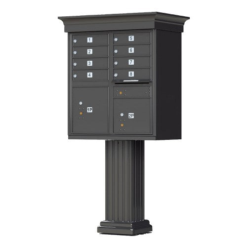 8 Tenant Cluster Box - 4 Parcel Locker - Decorative
