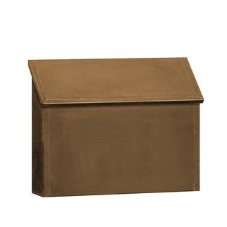 Brass Wall Mount Mailbox - Horizontal