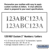 Salsbury Custom Numbers and Letters