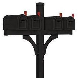 Salsbury Deluxe Quad Mailbox Package