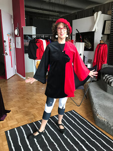SuZen in her Westbeth studio wearing her JacCAT for CatLovers