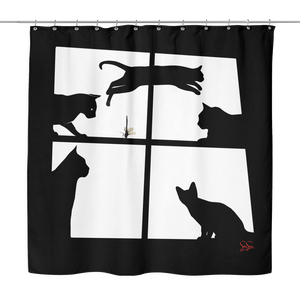 Cats-R-jumping Shower Curtain