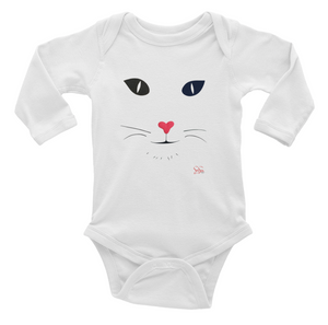 Heart Nose Infant Long Sleeve Onesie
