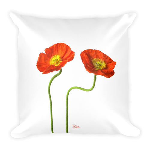 2 Poppies Pillow