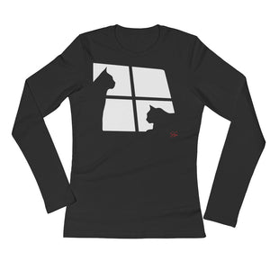 Ari-Gato Ladies' Long Sleeve T-Shirt