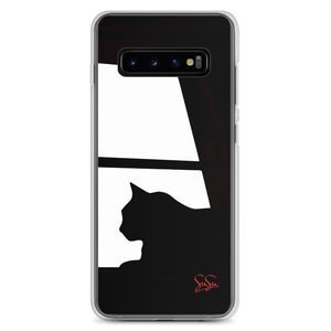 Black Cat Gato Samsung Cases