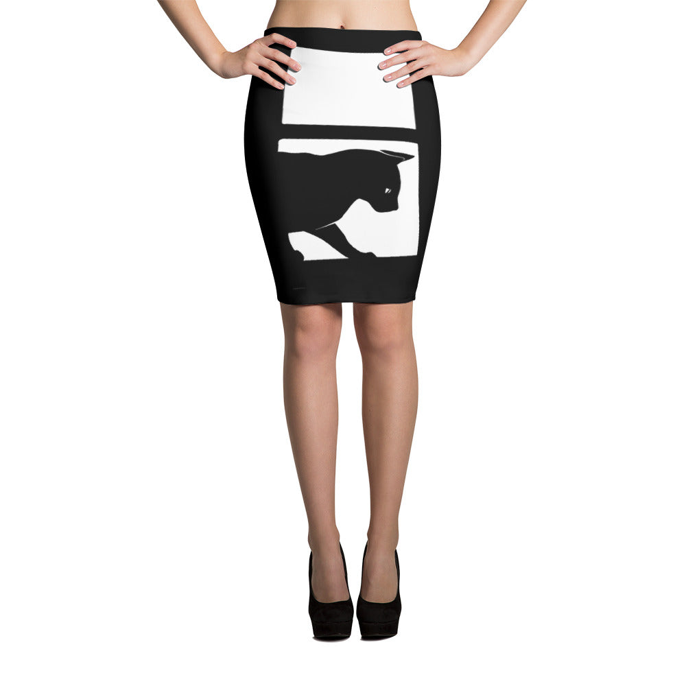 Dragonfly Pencil Skirt