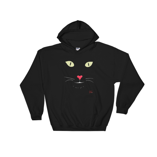Heart Nose Hooded Sweatshirt