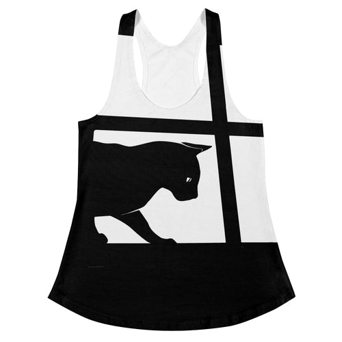 Cat with Dragonfly Racerback Tank