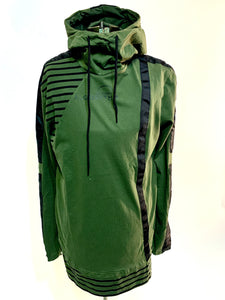 Striped Longline Hoodie - Algorythm Designs