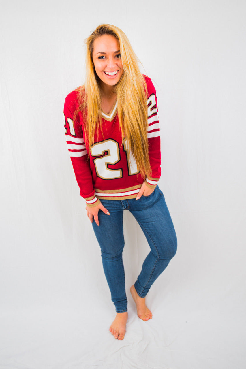 San Francisco  #21 Unisex Knit  Jersey Sweater